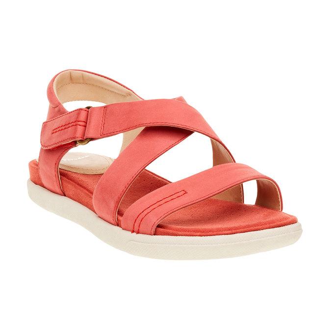 Damskie czerwone skórzane sandały bata, czerwony, 564-5351 - 13