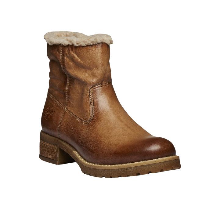 Skórzane buty zimowe bata, brązowy, 594-3101 - 13