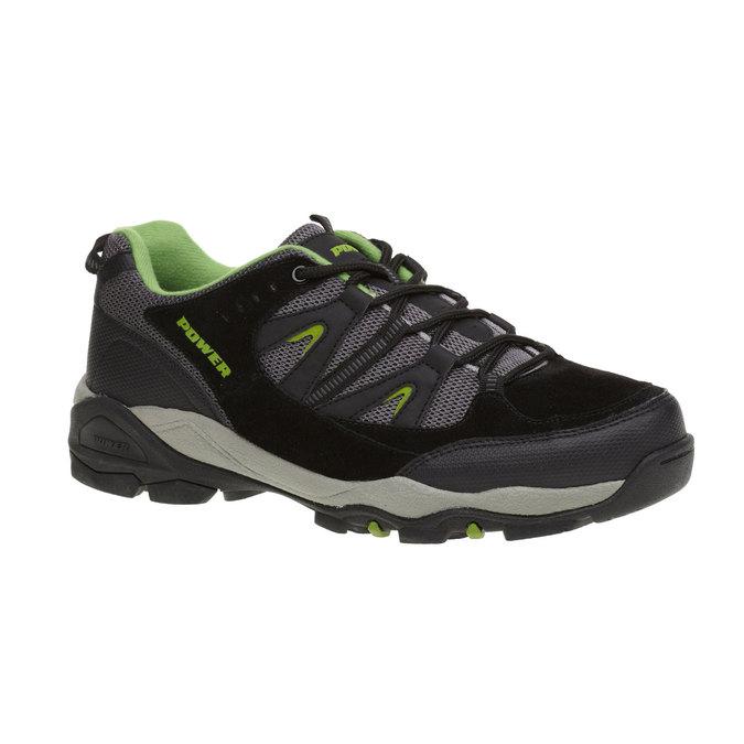 Skórzane buty sportowe power, czarny, 803-6284 - 13