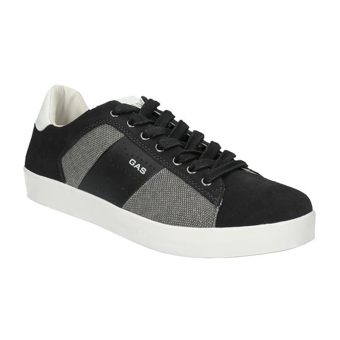 Męskie buty sportowe w codziennym stylu gas, czarny, 843-6619 - 13