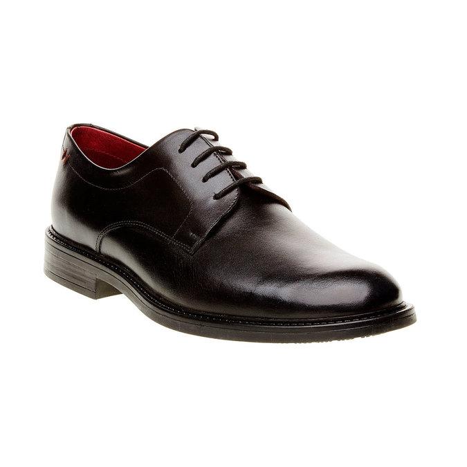 Skórzane brogsy Comfort bata-comfit, czarny, 824-6938 - 13