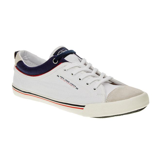Męskie buty sportowe w codziennym stylu pepe-jeans, biały, 849-1016 - 13