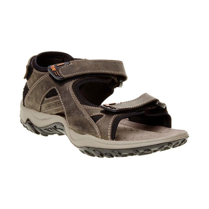 Męskie skórzane sandały weinbrenner, brązowy, 866-2106 - 13