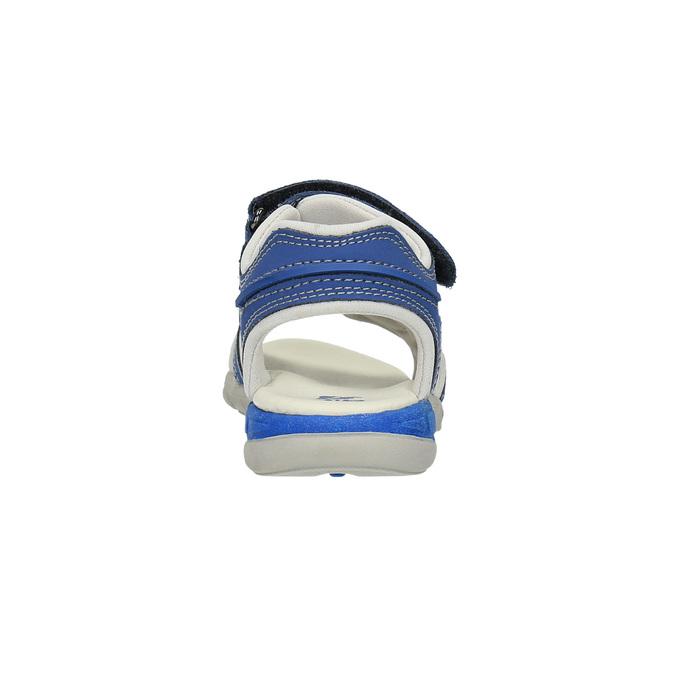 Dziecięce sandały ze skórzanymi paskami mini-b, niebieski, 264-9166 - 17