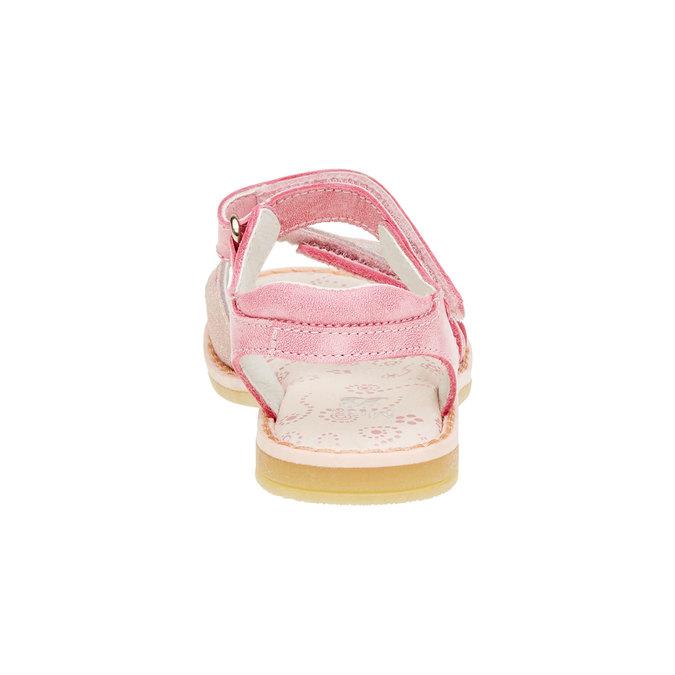Dziecięce skórzane sandały mini-b, różowy, 266-5310 - 17