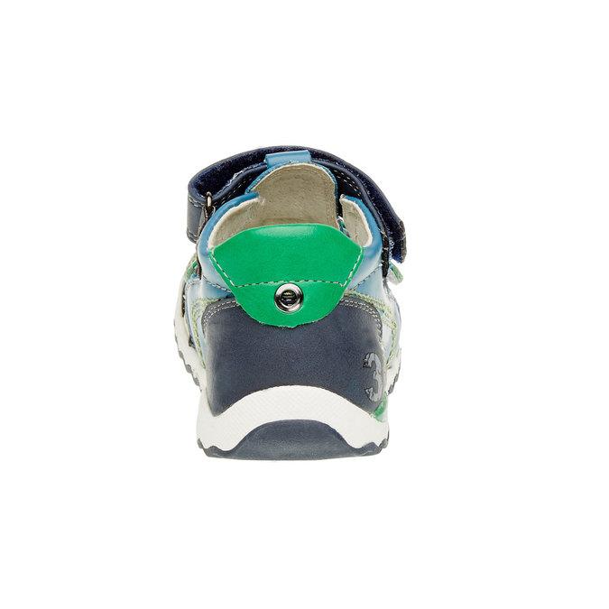 Dziecięce skórzane sandały bubblegummer, niebieski, 114-9144 - 17