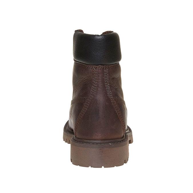 Dziecięce buty zimowe ze skóry weinbrenner-junior, brązowy, 394-4182 - 17