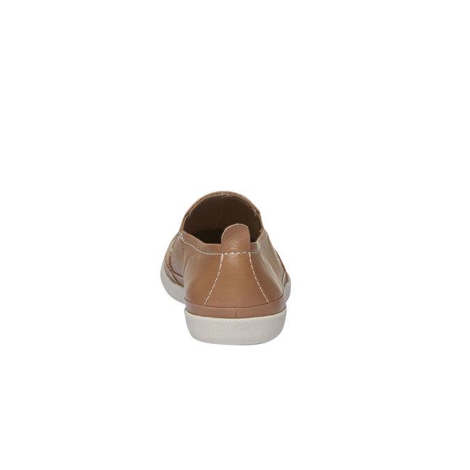 Skórzane buty Plim Soll z perforacją bata, brązowy, 514-3197 - 17