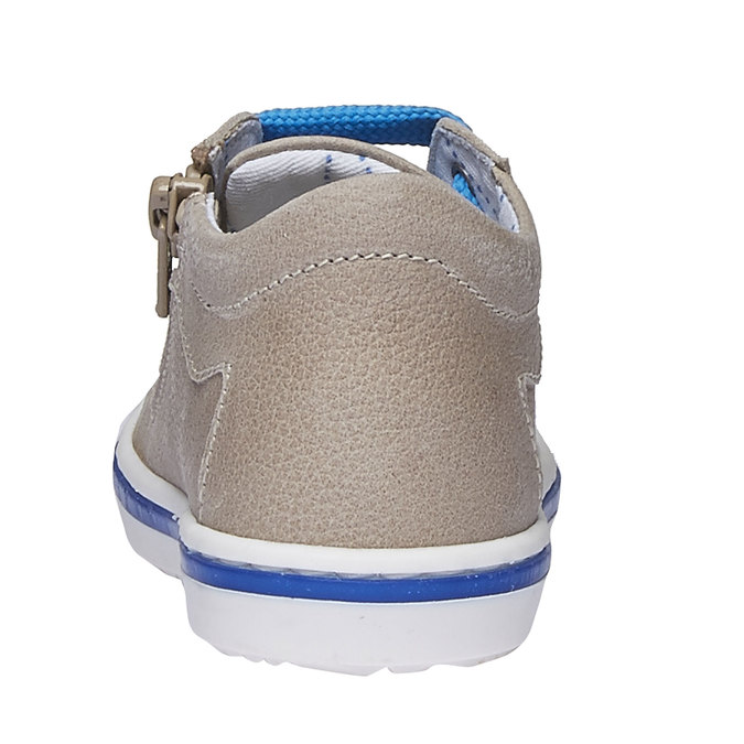 Dziecięce skórzane buty sportowe bubblegummer, brązowy, 114-3146 - 17
