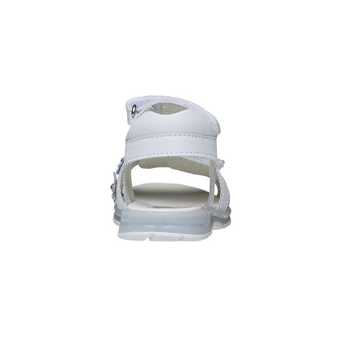 Białe skórzane sandały mini-b, biały, 264-1163 - 17