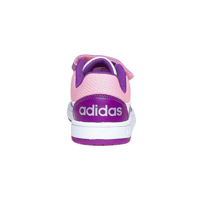 Trampki dziecięce na rzepy adidas, fioletowy, 301-1167 - 17