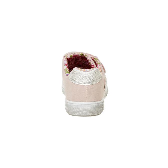 Dziewczęce buty sportowe na rzepy mini-b, różowy, 221-5161 - 17
