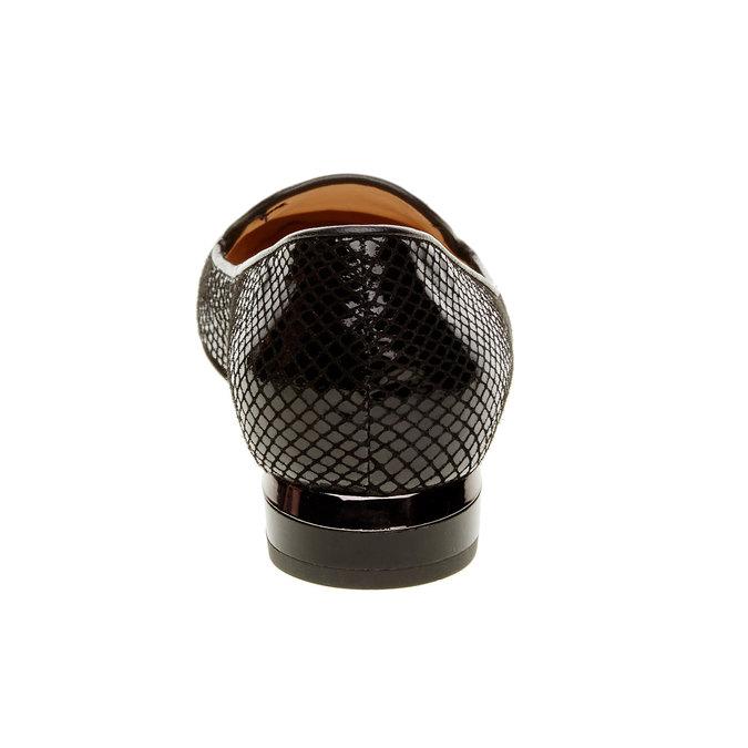 Damskie skórzane mokasyny bata, czarny, 524-6412 - 17