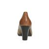 Czółenka damskie na szerokim obcasie bata, brązowy, 726-3604 - 17