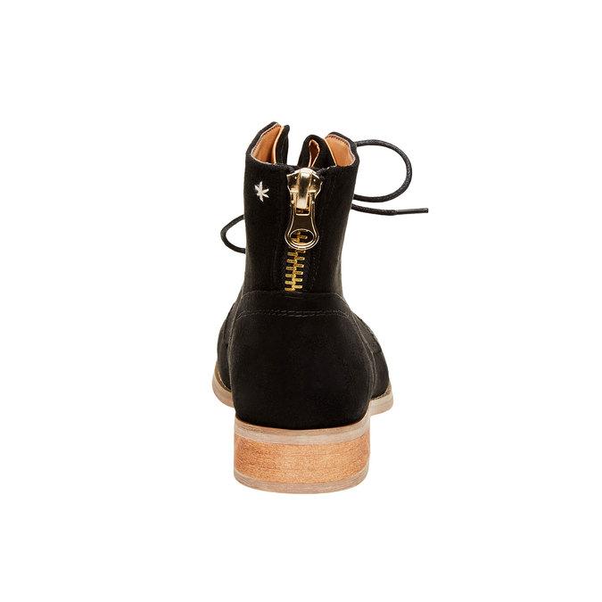 Botki z zamkiem bata, czarny, 599-6493 - 17