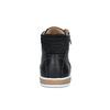 Trampki męskie za kostkę bata, czarny, 844-6625 - 17