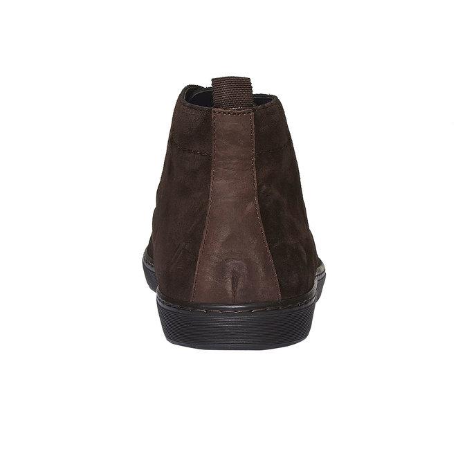 Zamszowe półbuty bata, brązowy, 893-4387 - 17