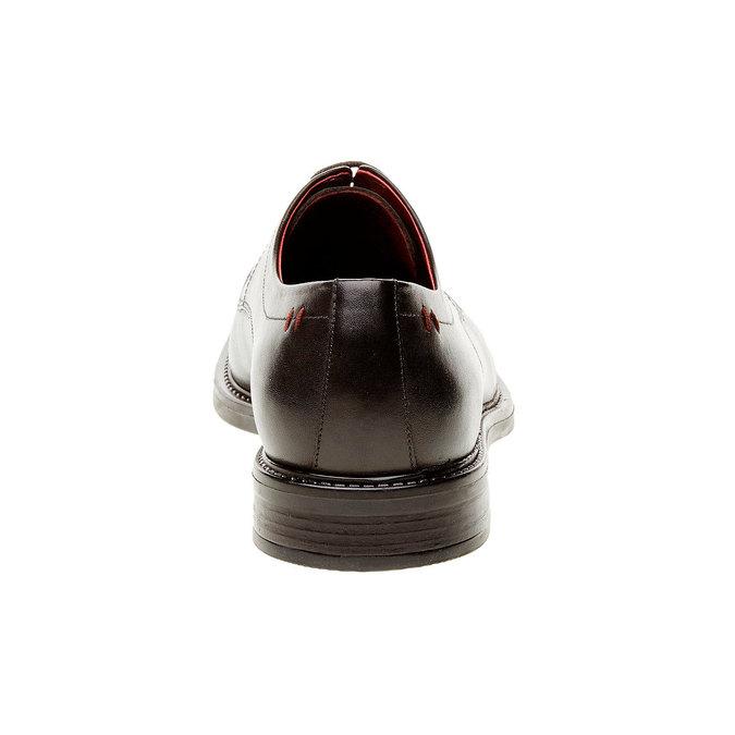 Skórzane brogsy Comfort bata-comfit, czarny, 824-6938 - 17