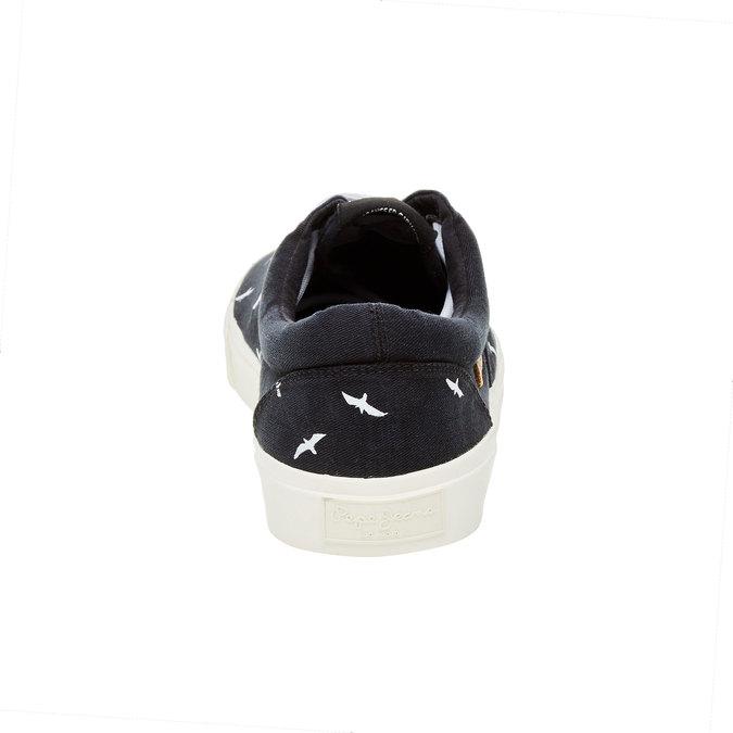Męskie czarne buty sportowe w codziennym stylu pepe-jeans, czarny, 849-6007 - 17