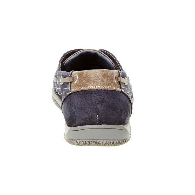 Skórzane mokasyny w codziennym stylu bata, niebieski, 856-9176 - 17