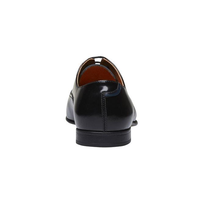 Męskie półbuty z lakierowanej skóry bata, czarny, 828-6796 - 17