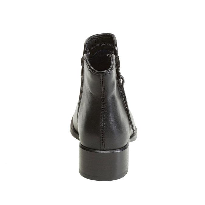 Kozaki do kostki bata, czarny, 594-6145 - 17