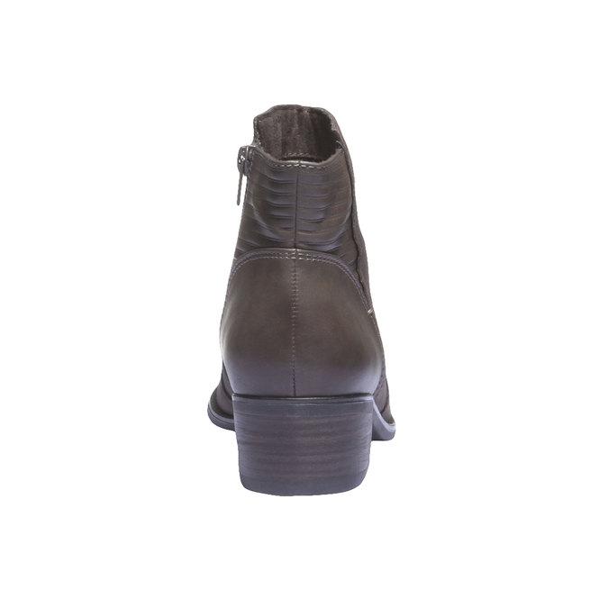 Skórzane botki zprzeszyciami bata, szary, 596-2103 - 17
