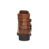 Brązowe buty za kostkę ze skóry bata, brązowy, 591-4602 - 17