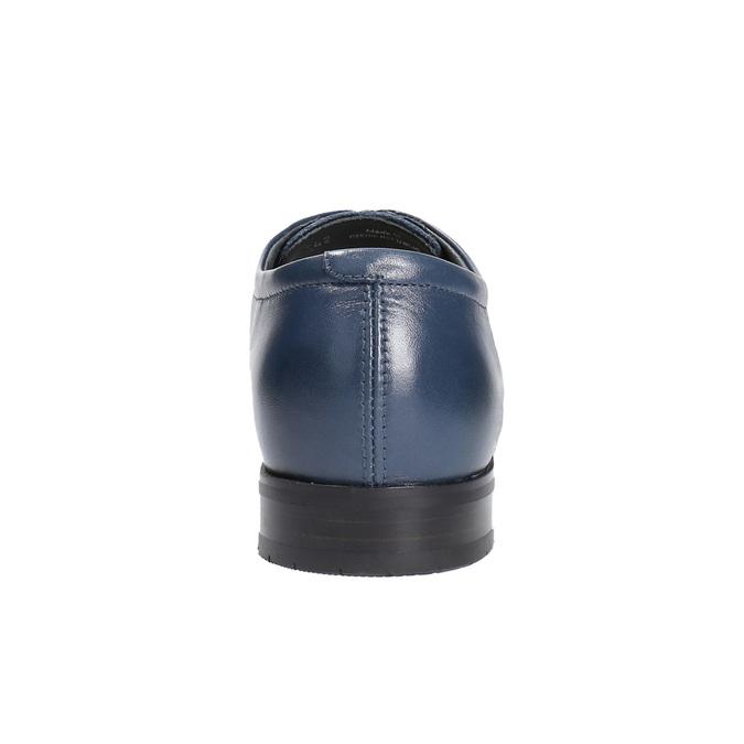 Męskie skórzane półbuty bata, niebieski, 824-9669 - 17