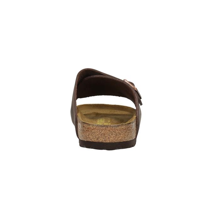 Skórzane klapki z korkową podeszwą birkenstock, brązowy, 866-4007 - 17