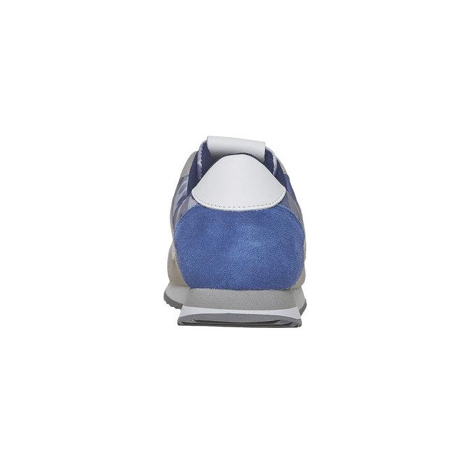 Męskie buty sportowe gas, niebieski, biały, szary, 843-9591 - 17