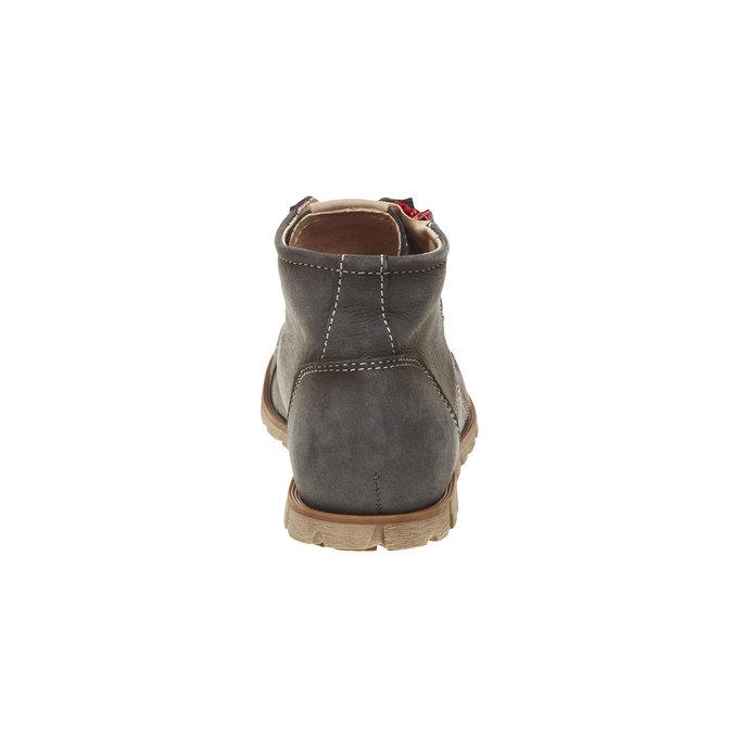 Skórzane buty sportowe do kostki z suwakiem weinbrenner, szary, 596-9110 - 17