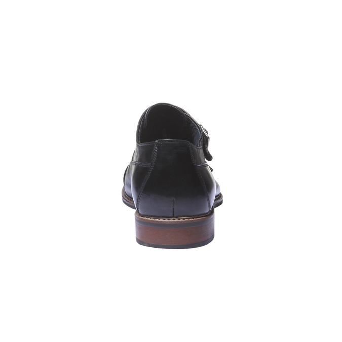Skórzane półbuty w stylu Monk bata, czarny, 814-6709 - 17