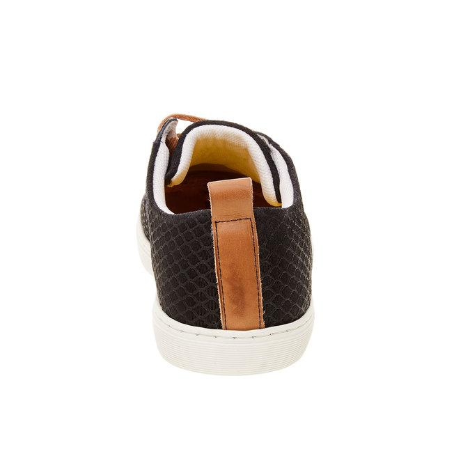 Skórzane buty sportowe na co dzień z wytłoczonym wzorem bata, 843-9320 - 17