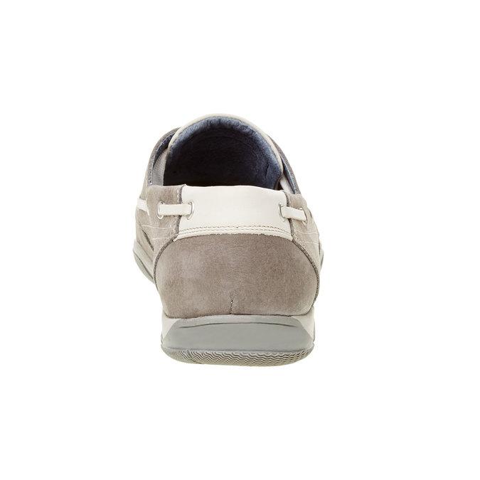 Skórzane mokasyny w codziennym stylu bata, szary, 856-2176 - 17