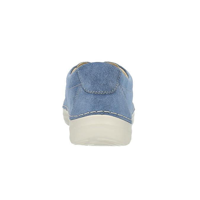 Skórzane buty sportowe na co dzień flexible, niebieski, 526-9603 - 17