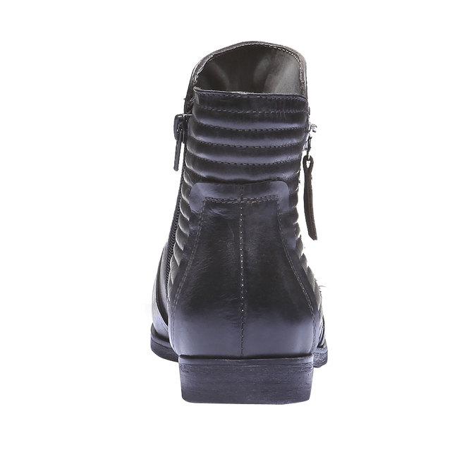 Skórzane botki bata, szary, 594-2100 - 17