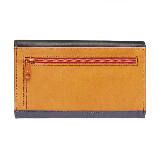 Damski skórzany portfel bata, czarny, 944-6156 - 26