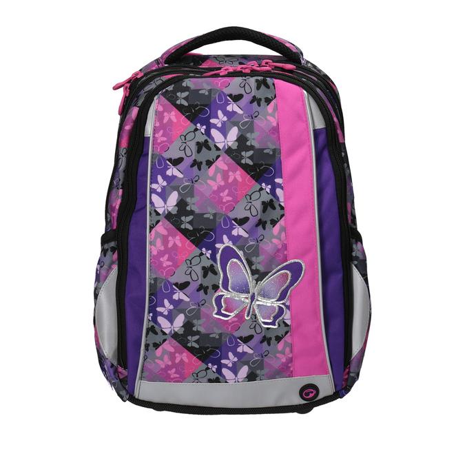 Plecak szkolny w motyle bagmaster, różowy, fioletowy, 969-5607 - 19