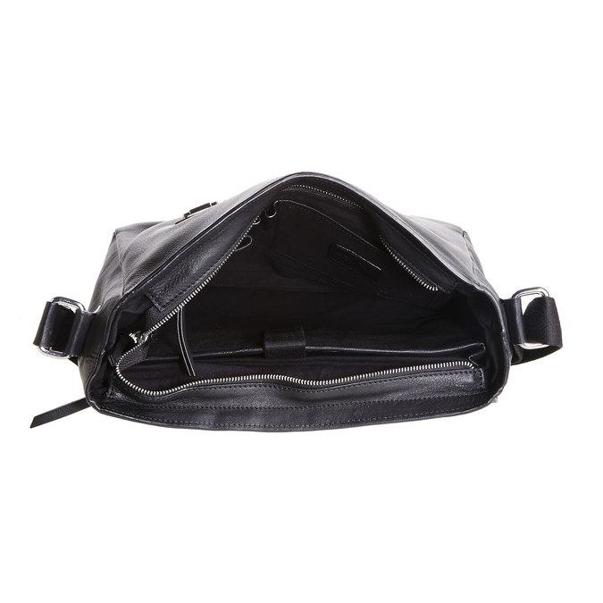 Męska skórzana torba bata, czarny, 964-6182 - 15