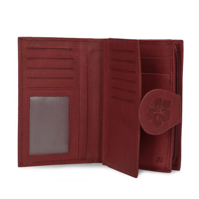 Damski skórzany portfel bata, czerwony, 944-5155 - 15