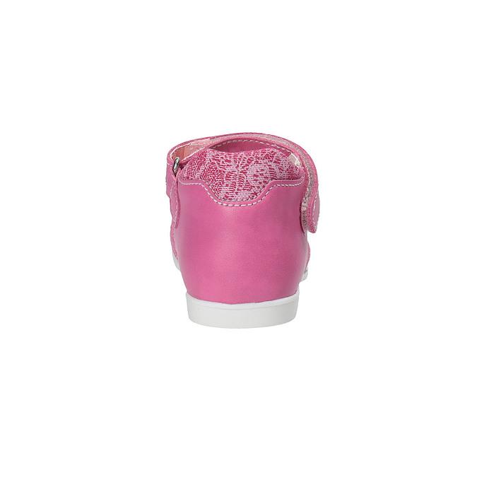 Dziewczęce pantofle do kostki bubblegummer, czerwony, 129-5148 - 17