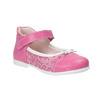 Dziewczęce pantofle do kostki bubblegummer, czerwony, 129-5148 - 13