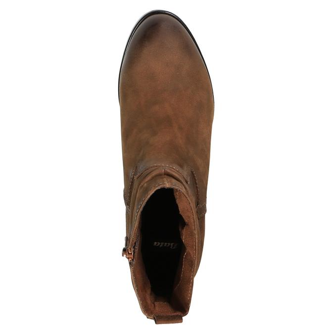 Botki damskie bata, brązowy, 796-4600 - 19