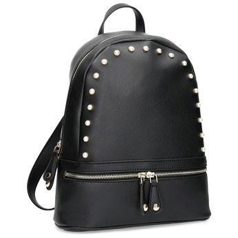 Czarna torba damska do ręki bata, czarny, 961-6606 - 13