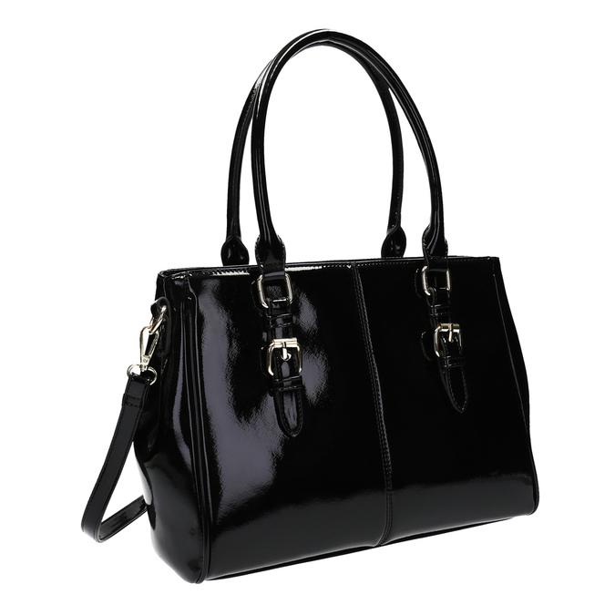 Czarna lakierowana torebka bata, czarny, 961-6619 - 13