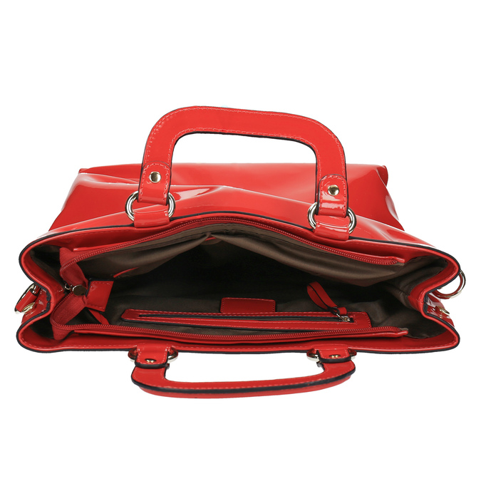 Czerwona torba damska do ręki bata, czerwony, 961-5606 - 15