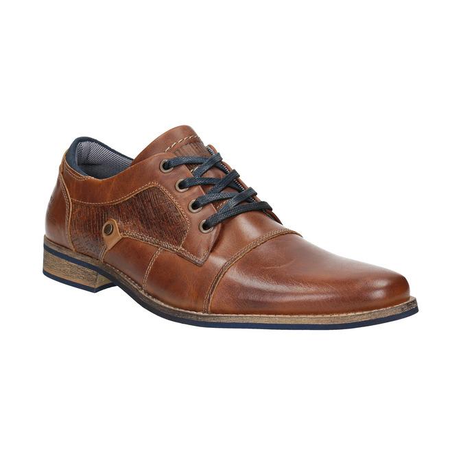 Półbuty ze skóry wnieformalnym stylu bata, brązowy, 824-4620 - 13