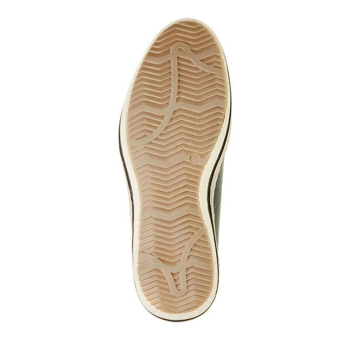 Niebieskie skórzane buty do kostki bata, niebieski, 844-9620 - 26