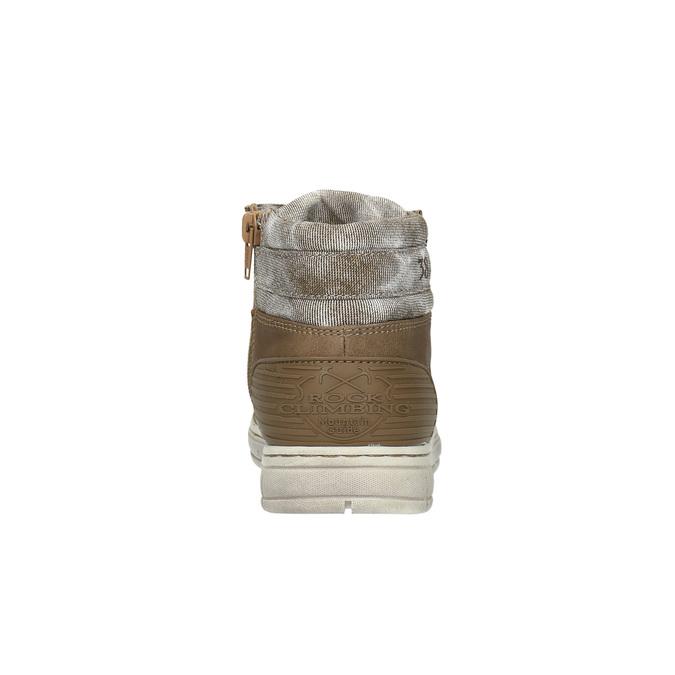 Chłopięce trampki do kostki mini-b, brązowy, 391-4600 - 17